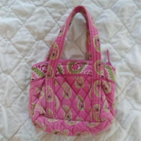 Vera Bradley Handbags - RETIRED Vera Bradley small Bermuda Pink hand bag